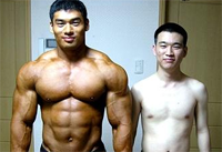 skinny guy vs muscular guy